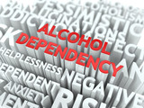 Alcohol Dependency. The Wordcloud Concept.
