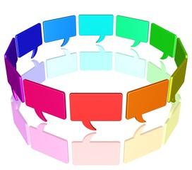 Gespräch am runden Tisch - Meeting