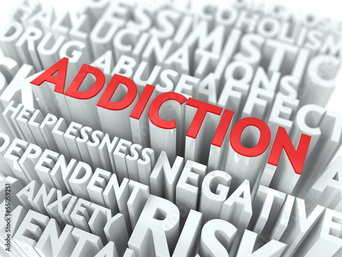 Addiction. The Wordcloud Concept.