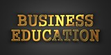 Business Education. Education Concept.