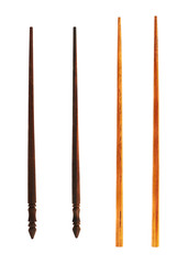 Two types of wooden chopsticks