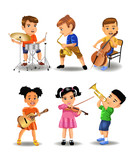 children playing instruments