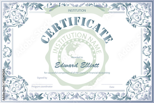 Certificate of Education Template