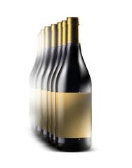 bottiglie di vino in fila indiana