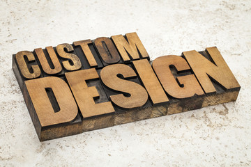 custom design in wood type