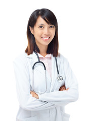 Asian female doctor portrait