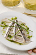 Spanish Cuisine. Marinated fresh anchovies. Boquerones.