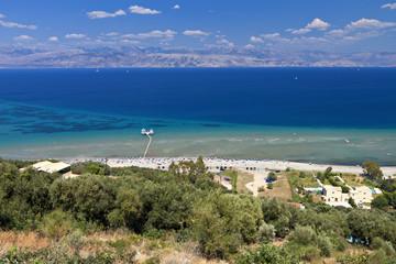 North coast of Corfu island in Greece