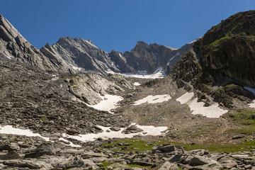 Glacier sous la pointe de l'observatoire
