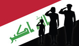 Iraq soldier family salut