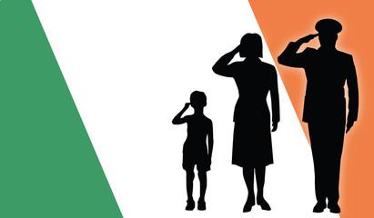 Ireland soldier family salut