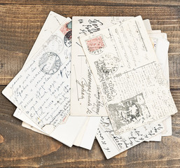 old letters on wood