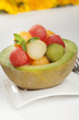 fruit salad with melons