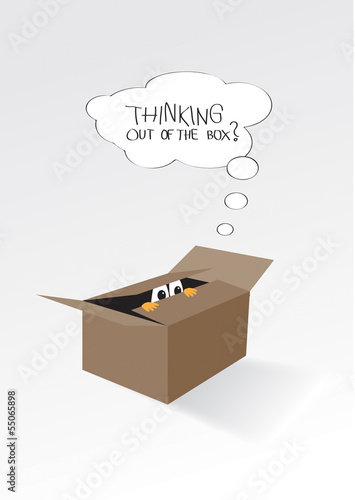 Thinking outside of the box; concept