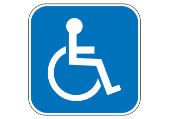 Handicapped wheelchair sign
