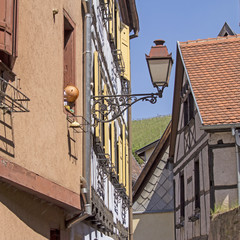 Alsace, typical village in France.