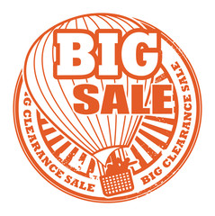 Stamp with the words Big Sale written inside the stamp, vector