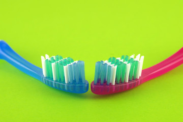 Two tooth-brushes