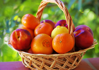 Citrus fruits and peaches