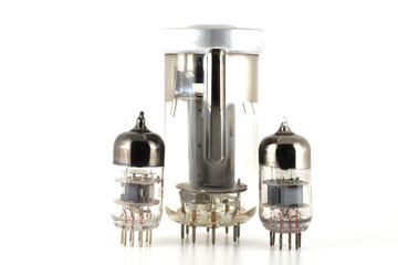 Glass vacuum radio tubes