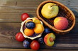 Fruit composition: pears, plums, peaches, apricots