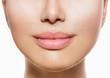 Beautiful Perfect Lips. Sexy Mouth Closeup over white
