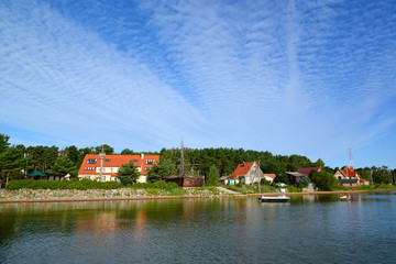 View of the settlement Fishing from the Curonian Bay, the Kalini
