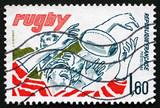 Postage stamp France 1982 Rugby, Team Sport poster