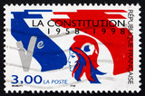 Postage stamp France 1998 French Flag, 5th Republic