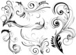 Swirls pattern elements