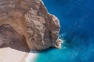 Navagio Beach Cliff, Zakynthos, Greece