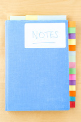 Blue Notebook with Sticky Tabs