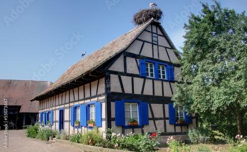 Papiers peints Europe du Nord maisons alsaciennes traditionnelles