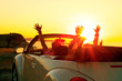 Leinwandbild Motiv Cabriolet sunset