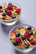 cereal flakes with berry