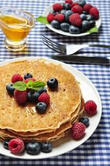 pancakes close up