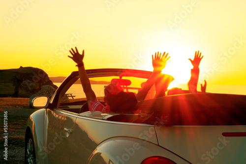 Papiers peints Coucher Cabriolet sunset