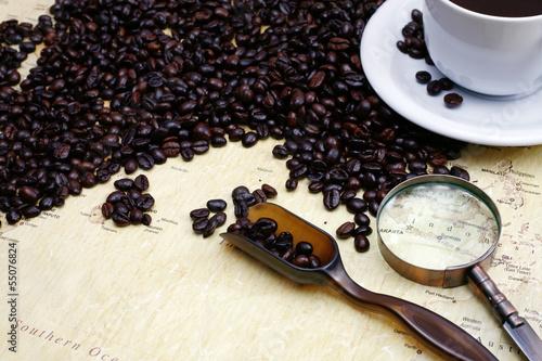 Fototapeten,karte,kaffee,bohne,brasilien