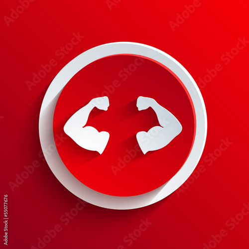 Vector red circle icon. Eps10