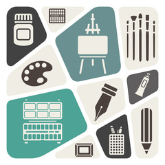 Art materials background