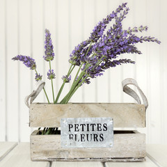 Lavender on a white table