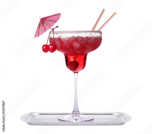 alcoholic exotic cocktail isolated