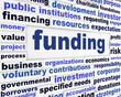 Funding business words message