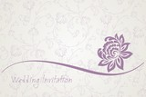 water lily , wedding card design, India
