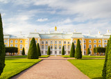 The Peterhof Grand Palace facade