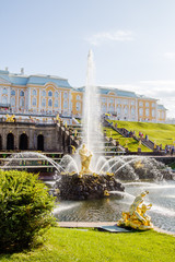 Samson fountain in Peterhof lower park