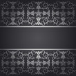 Black background baroque vector with flowers