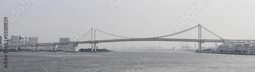 Fototapeten,tokyo bay,rainbow bridge,sonne,brücke