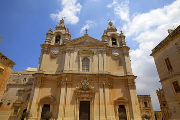 St Paul's Cathedral in Mdina, Malta.