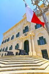 The Auberge de Castille in Valletta, Malta.